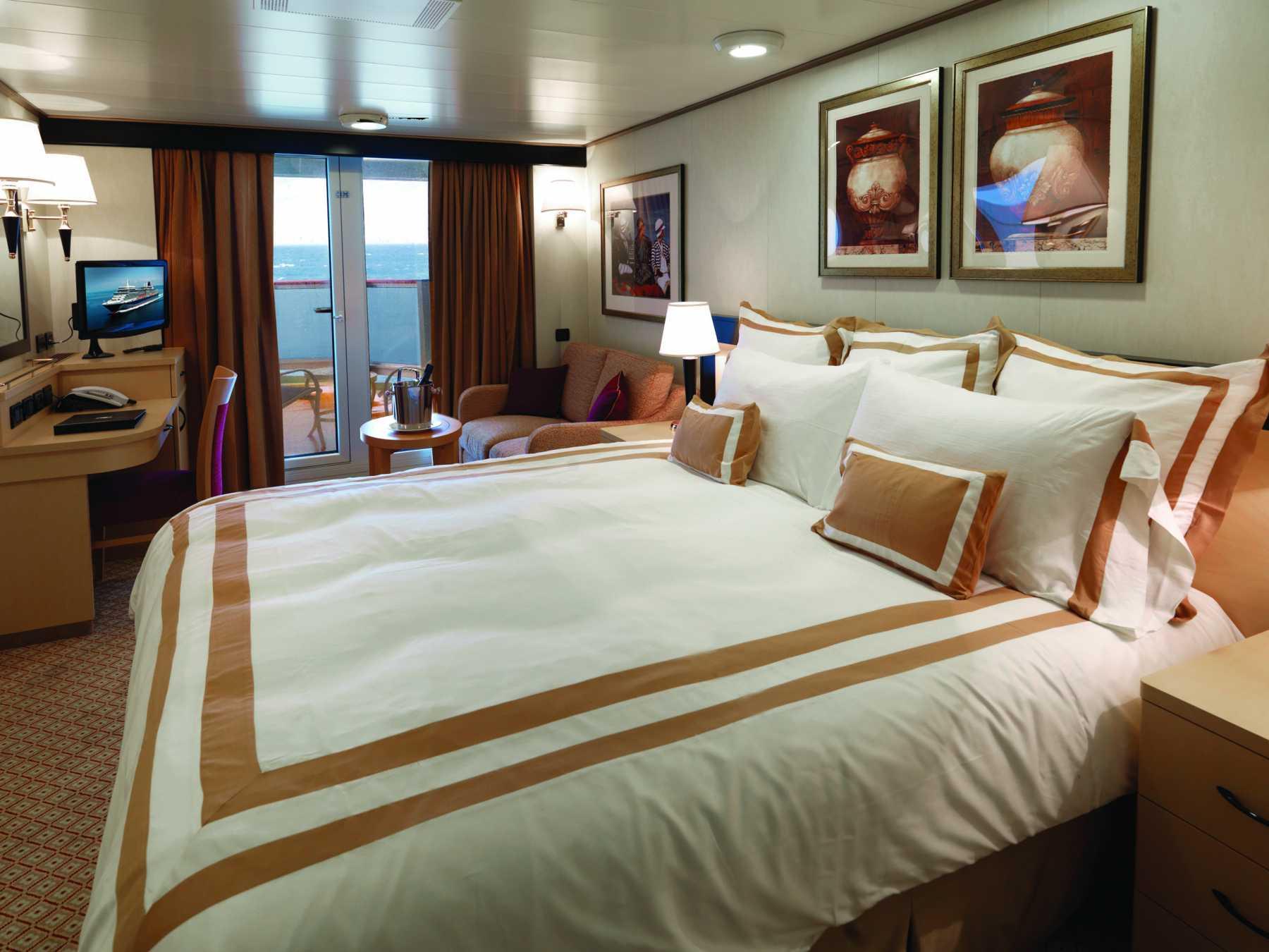 Cunard Line Queen Elizabeth Balcony Stateroom 1.JPG