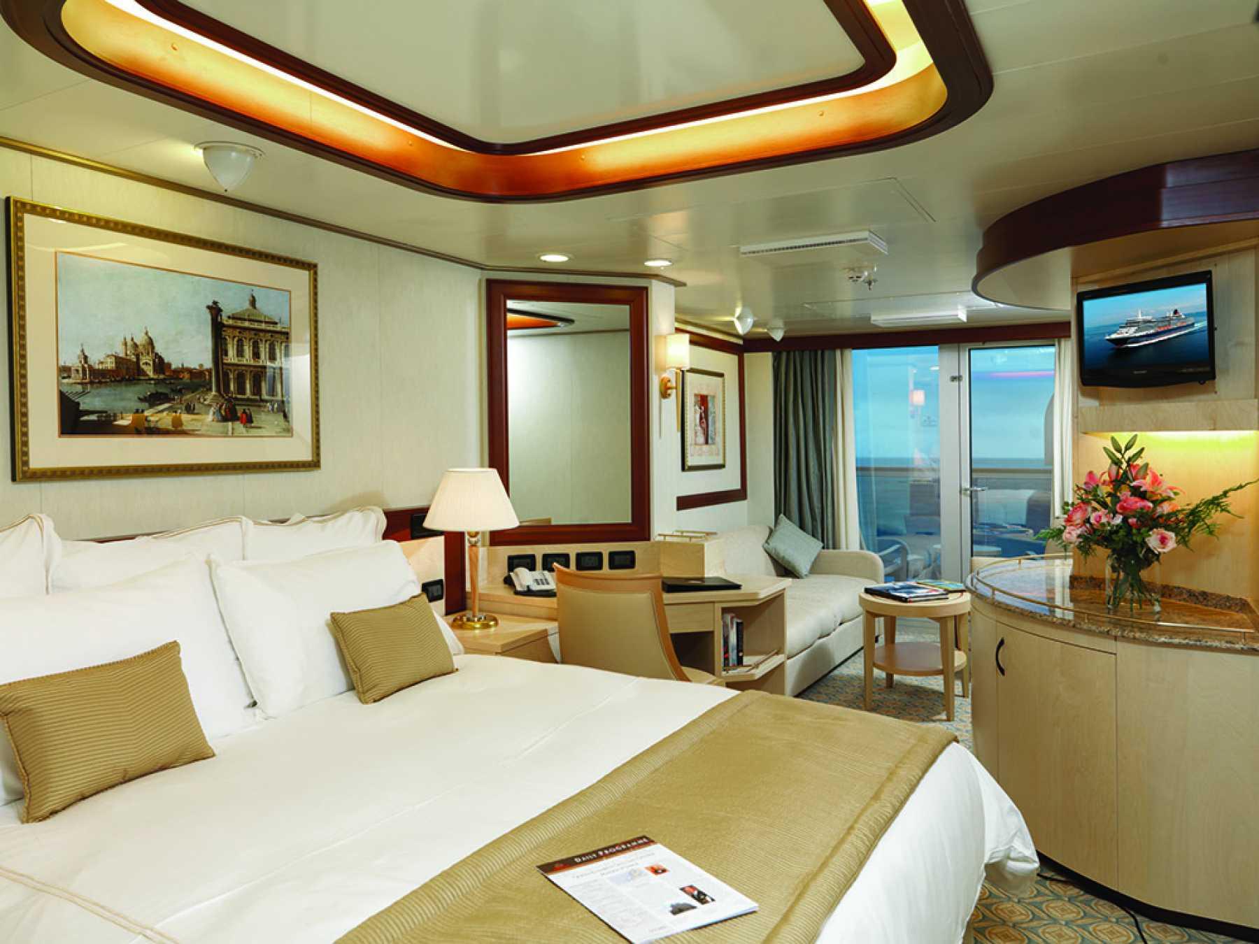 Cunard Line Queen Elizabeth Princess Grill Suite 1.JPG