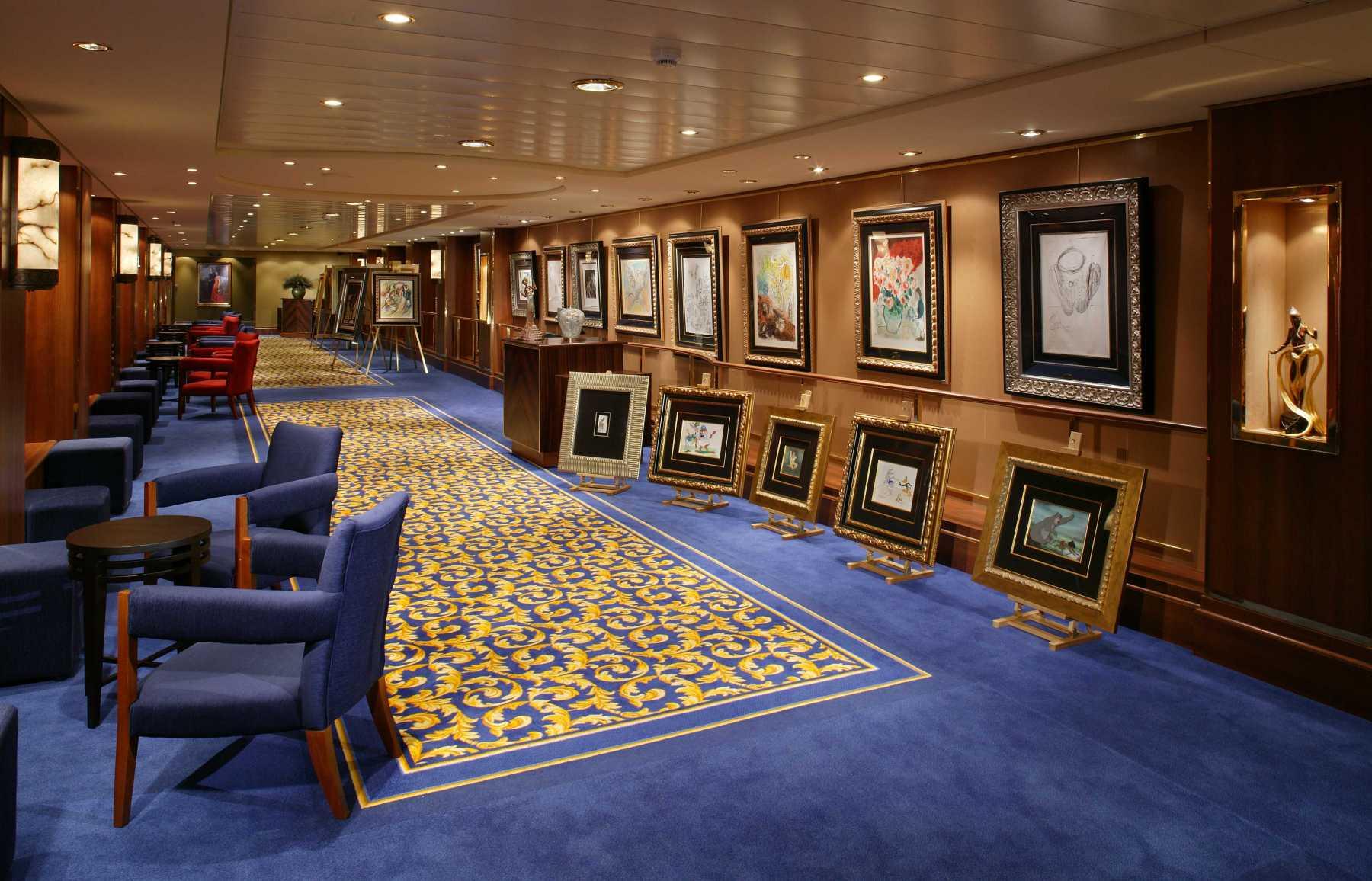 Cunard Line Queen Mary 2 Art Gallery 1.JPG