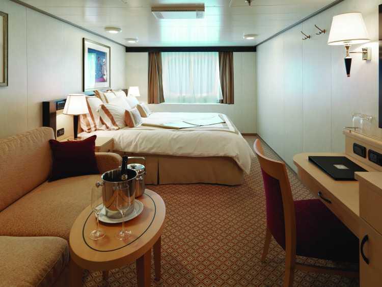 Cunard Line Queen Elizabeth Ocean View Stateroom 1.JPG
