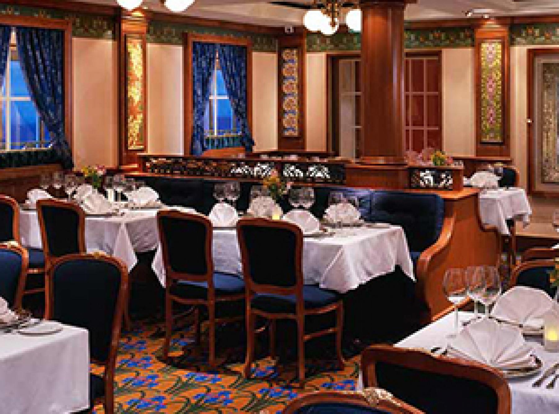 Norwegian Cruise Line Norwegian Dawn Interior Le Bistron French Restaurant.jpg