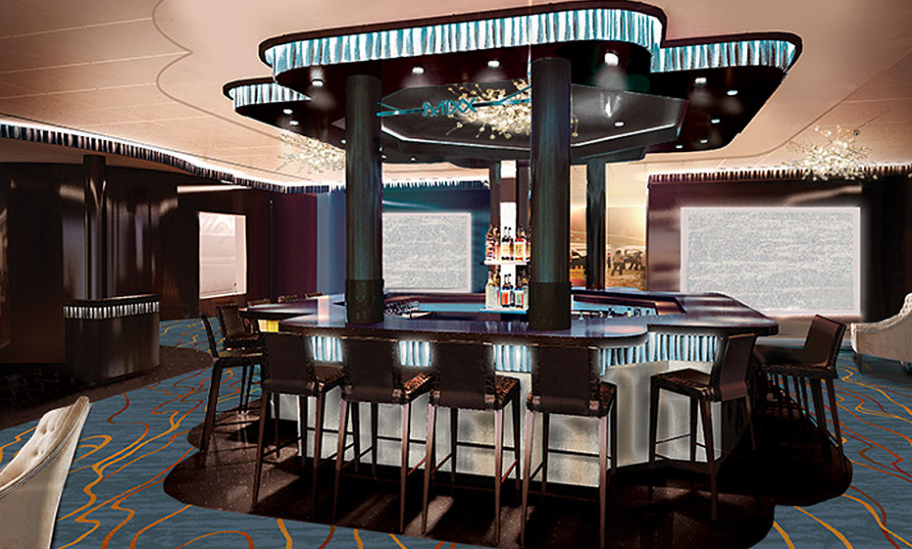 Norwegian Cruise Line Norwegian Escape Interior Mixx Bar.jpg