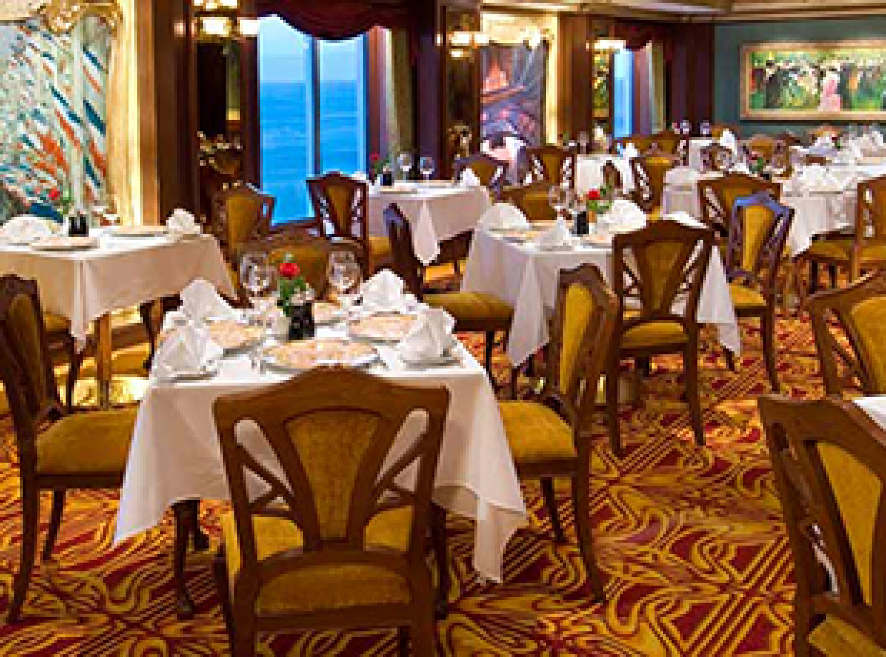 Norwegian Cruise Line Norwegian Jewel Interior Le Bistro French Restaurant.jpg