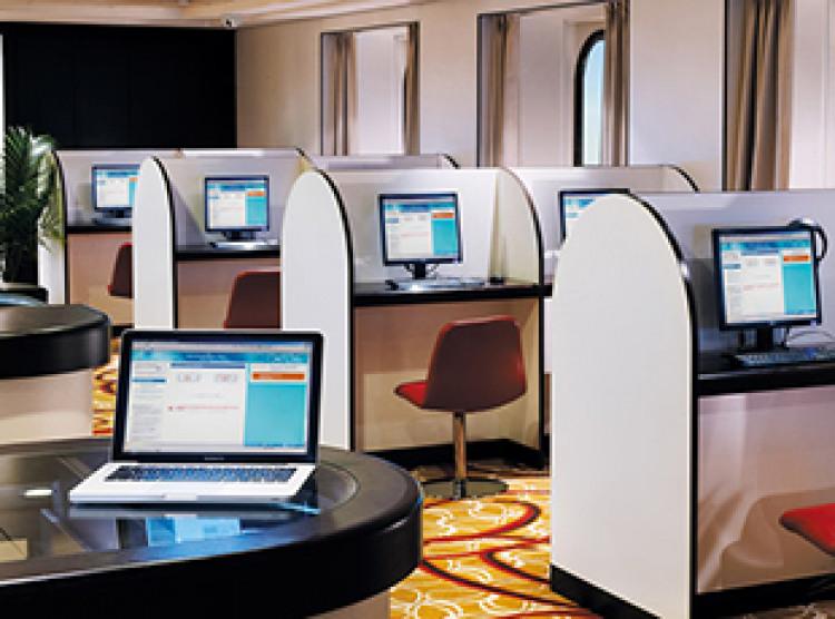 Norwegian Cruise Line Norwegian Spirit Interior Internet Cafe.jpg