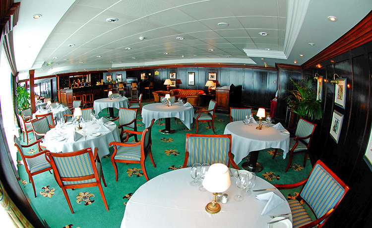 Princess Cruises Ocean Princess Interior Sterling Steakhouse 2014.jpeg
